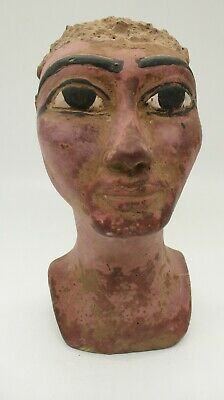 Scarce Circa 500Bce Ancient Egyptian Stone Carved Bust Of Ahkenaton