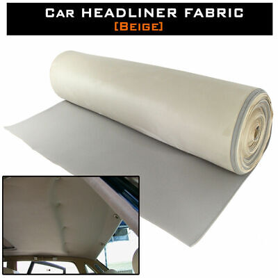 "Re-upholstery Car RV Suede Headliner Fabric Beige Roof Liner Restoration 36""x60"""