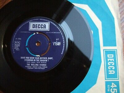 The Rolling Stones - Have You Seen Your Mother - Decca F.12497/1966 + Sleeve
