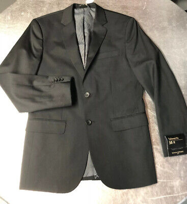 Banana Republic Men Size 38R Black Modern Tailored Fit Blazer Jacket Suit $250