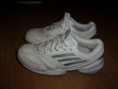 Adidas Galaxy Elite 2 K White & Silver leather girls trainers size 2