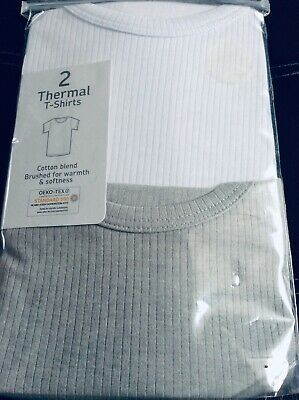 Brand new pack of 2 boys thermal t-shirts, age 8-9 years