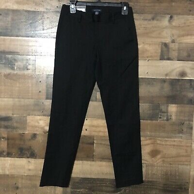 Tommy Hilfiger Womens Black Size 0 Slim Leg Ankle Dress Pants Stretch Cotton Bld