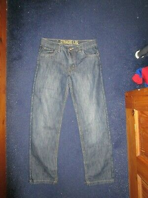 boys boy age 10-11 years blue jeans straight fit