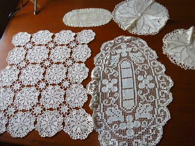 Vintage doilies - x 5 assorted  # 14