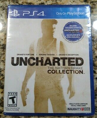 Uncharted: The Nathan Drake Collection (Sony PlayStation 4, 2015) NEW SEALED