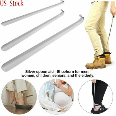 "6""-22"" Stainless Steel Extra Long Handle Shoe Horn Handled Metal Shoehorn Horns"