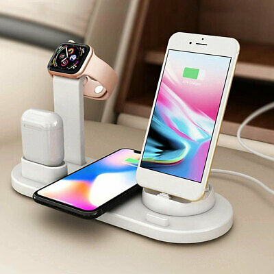3 in1 Fr iPhone XS 11 Pro Max Qi Wireless Charger Charging Station Dock Stand WG