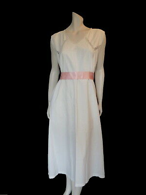 Antique Nightgown With Lace and Eyelet Embroidery