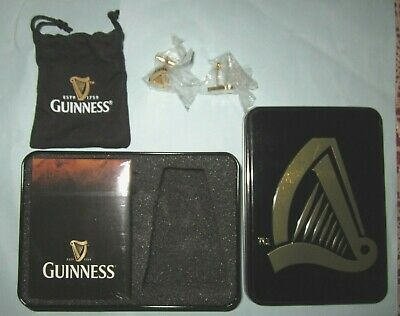 Guinness Playing Cards and Cuff links Set in Tin UNUSED