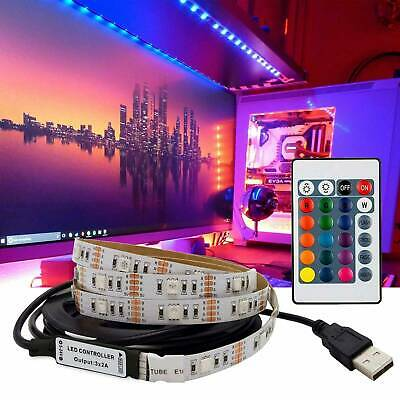 USB Powered RGB LED Strip Light Backlight 5V for LCD TV PC Computer Case Monitor