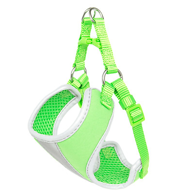 *NEW* Whisker City Comfort Small Reflective Green Cat Harness 13''-16''