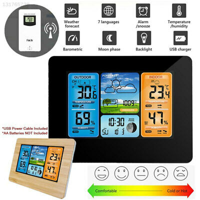 FJ3373 Wireless Weather Station Thermometer Clock with Sensor Snooze Creative