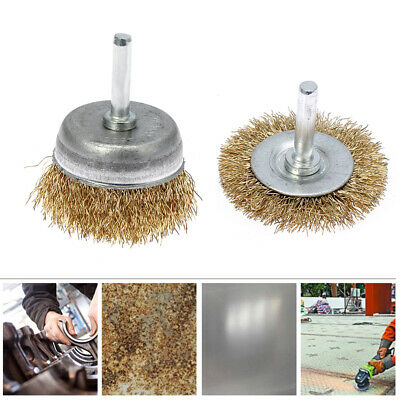 For Angle Grinders Brass Wire Wheel Polishing Rust Removal Flat Cup Brush
