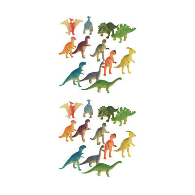 24Pcs Plastic Dinosaurs Play Toys Animals Action Figures Kids Party Bag Loot
