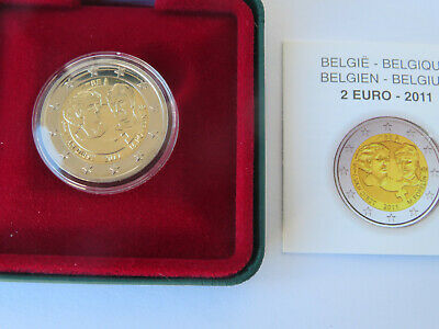 BELGIQUE  -2 Euro 2011 Journée internationale des femmes  PP BE PROOF (7 500 ex)