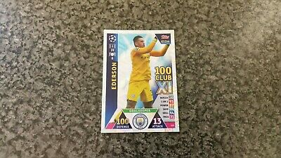Match Attax Ucl 2018/19 No-429 Ederson Hundred Club Xl Mint
