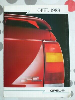 auto folder brochure advertising Opel 1988