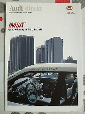 auto folder brochure advertising Audi quatro racing USA 1989
