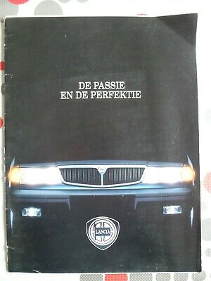 auto folder brochure advertising Lancia