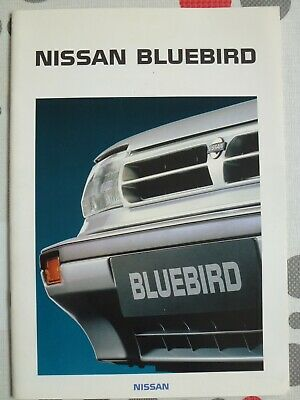 auto folder brochure advertising Nissan Bluebird