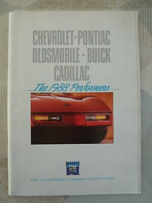 auto folder brochure advertising Chevrolet pontiac buick cadillac