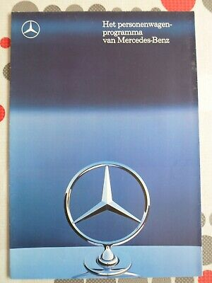 auto folder brochure advertising Mercedes-Benz