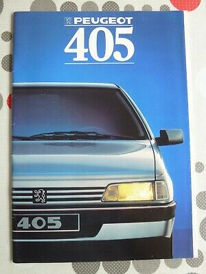 auto folder brochure advertising Peugeot 405