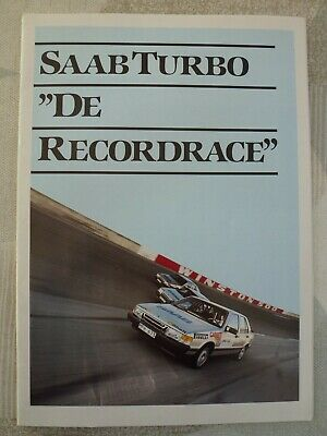 auto folder brochure advertising Saab Turbo