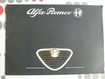 auto folder brochure advertising Alfa Romeo