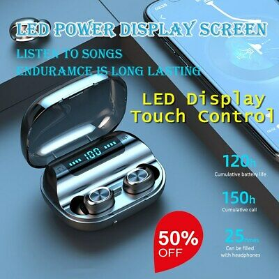 TWS Bluetooth 5.0 Headset LED Display Touch Control Wireless Stereo Headphones