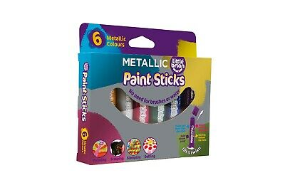 Little Brian Paint Sticks Metallic/Pearlescent 6 Assorted Colours Set