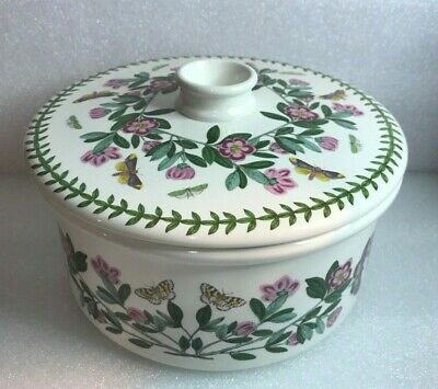 "Portmeirion Botanic Garden Covered Casserole Dish 7 3/4"" Rhododendron"