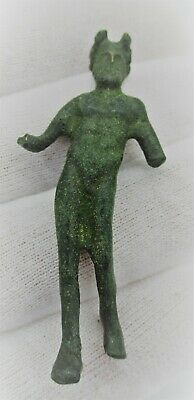 Circa 200 - 300 Ad Ancient Roman Bronze Statuette Of A Young Satyr Rare
