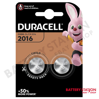 Duracell DL2016 CR2016 Lithium Coin Cell Batteries | 2 Pack