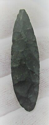 Neolithic Flint Carved Scraper Tool Or Arrowhead Prehistoric Battle Relic