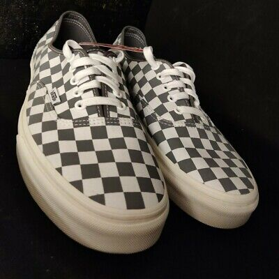 Van Authentic Checkerboard Grey & White Size 10 UK brand new great pair