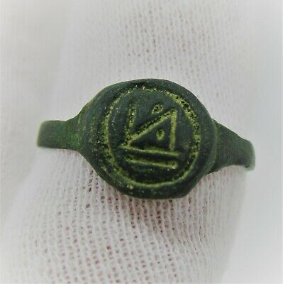 Detector Finds Ancient Byzantine Bronze Ring With Monogram On Bezel