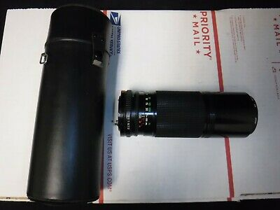 Vintage Canon Zoom Camera Lens FD 100-200mm 1:5.6 w/ case