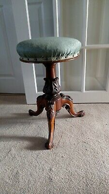 Antique dressing stool. Victorian. Used.