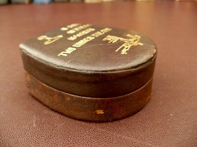 Vintage Leather Stud Box - Pair Of Vintage Gilt Cufflinks
