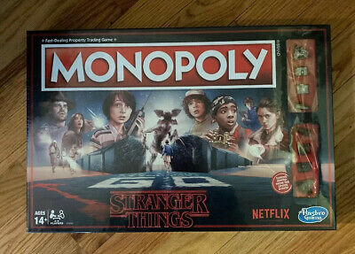 Stranger Things Monopoly Edition Hasbro Board Game Netflix NEW! Trading Game