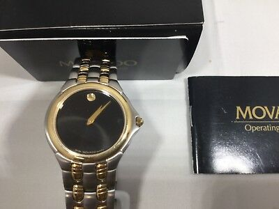 MOVADO Gents Museum Two Tone 38mm 81.E4.9873 New Old Stock