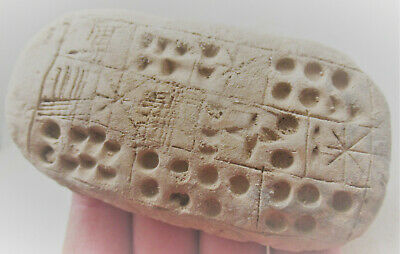 Ancient Near Eastern Clay Tablet With Early Form Of Writing Circa 2000Bce