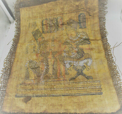 Museum Quality Ancient Egyptian Papyrus Piece With Important Scenes 500Bce