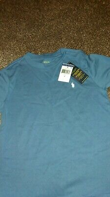 Boys Ralph Lauren Polo Shirt Age 6, Blue. New with tags.Long sleeved.