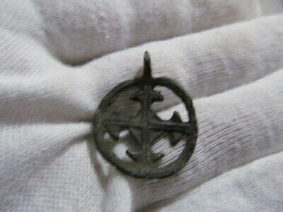 "Ancient bronze pendant ""Cross in circle"" Kievan Rus Vikings 10-13 AD № 653/2."