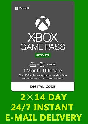 Xbox Live 1 Month Gold & Xbox Game Pass Ultimate (2x14 Day) FAST DELIVERY