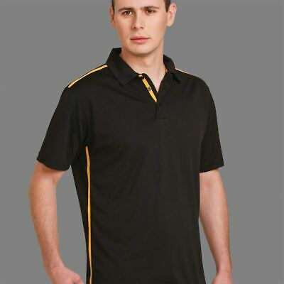 Adults Plain Quick Dry Polo Shirts | Rapid Cool Mens Contrast Top | UPF 30+