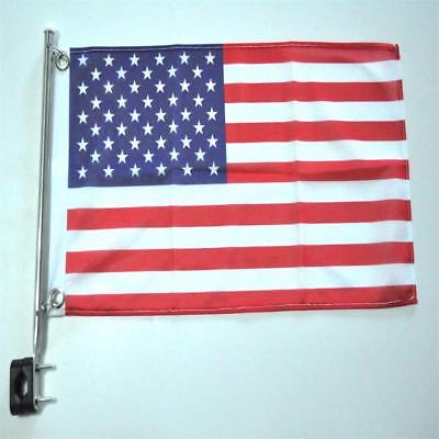 Flag and Pole 12 x 18 Puerto Rico Rail Mount Flag Kit for Boats